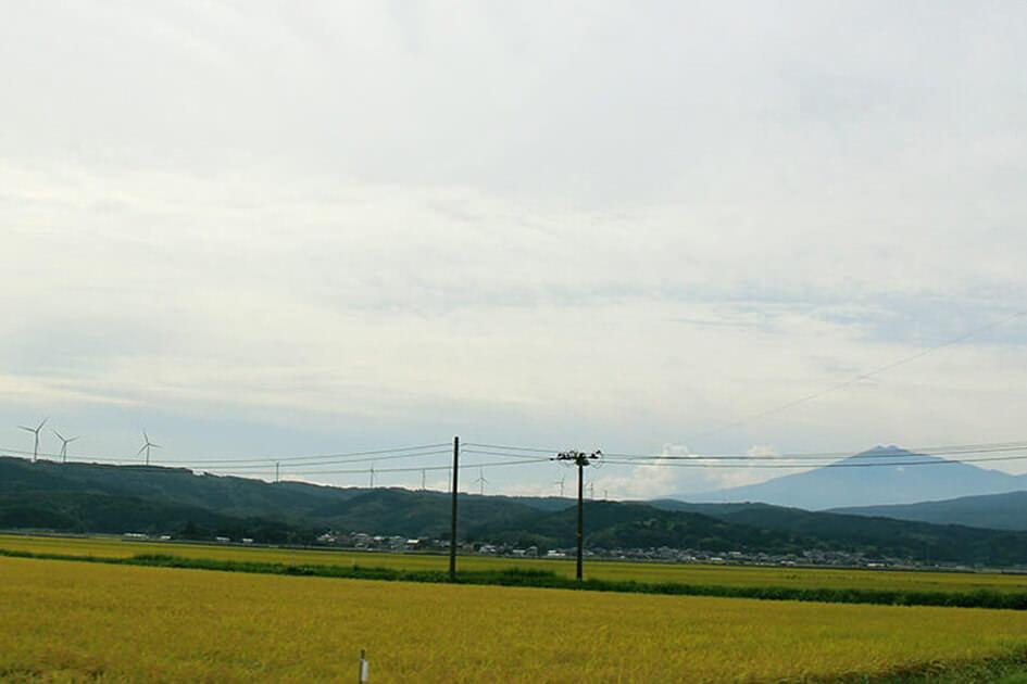 鳥海山の眺め