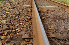由利高原鉄道のレール